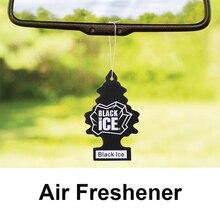 100/50/15pcs nuovo deodorante per auto specchietto retrovisore piccoli alberi a forma di ghiaccio nero accessori per interni decorazione all'ingrosso