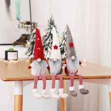 47cm Christmas Decoration Xmas Star Elf Plush Santa Claus Dolls Tree Sitting Decor Home Hol