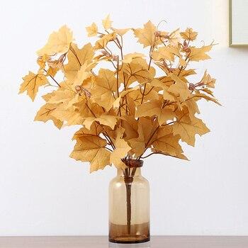 10 ramas Acción de Gracias hoja de arce plantas artificiales falsas hojas de otoño plantas falsas para tienda de decoración de Casa boda fotografía Prop
