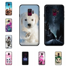 For Samsung Galaxy S9 Case Soft TPU Leather G960F Cover Cartoon Patterned Shell Capa