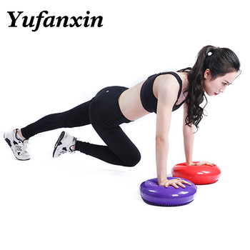 Balance pad Durable Inflatable Yoga Massage Ball Pad Universal Sports Gym Fitness Yoga Wobble Stability Balance Disc Cushion Mat 37cm universal healthy wobble balance board stability disc yoga sport training fitness exercise waist wriggling round plate game