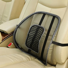 Car Seat Chair Back Cushion Mesh Lumbar Brace Massage Pad Support Home Office