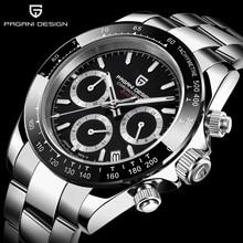 PAGANI DESIGN Watch men Multifunctional Clock Stainless Steel Strap Business luxury Military Quartz Wristwatch relogio masculino стоимость