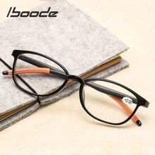 iboode New Ultralight Reading Glasses Women Men TR90 Flexible Clear Lens Presbyopic Eyeglasses +1.0 to 4.0 Elders Reader Eyewear