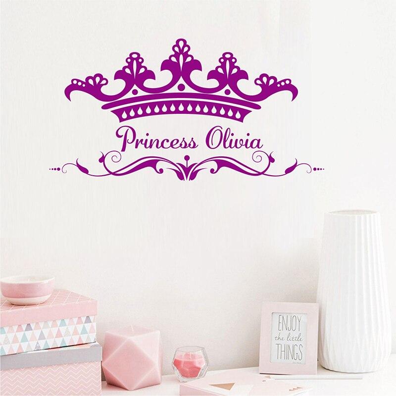 Pretty Princess Crown Wall Sticker Diy
