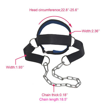 Head Neck Training Head Harness Body Strengh Exercise Strap Adjustable Neck Power Training Gym Fitness Weight Bearing cap 2