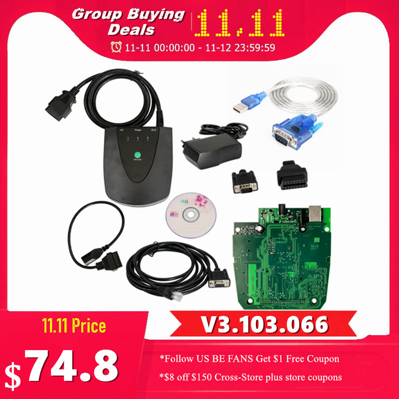 Newest Version V3 103 066 HDS HIM For HONDA Diagnostic Module For Honda Interface Module Green Double PCB Multi-Function