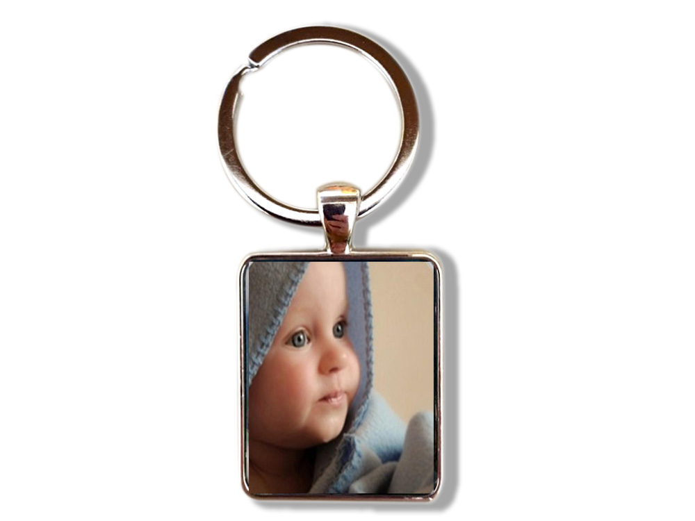 FLTMRH 17x25m Mcustom Photo Keychain Key Chains Non-faded Customized Key Ring Photo Of Your Baby Child Mom Dad Family Loved One