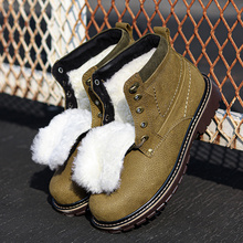 Natural Wool Winter Boots men Russian Style Full Grain Leath
