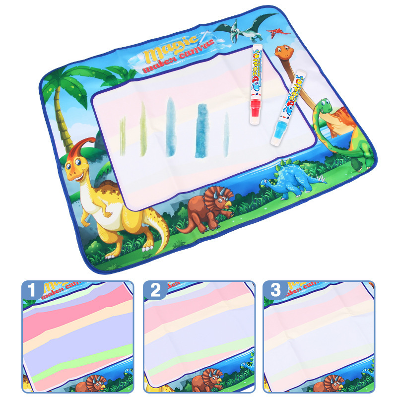 Large Size Magic Rainbow-colored Magic Water Canvas Kids' Play Mat Doing Homework Blanket Graffiti Painted Educational Early Chi