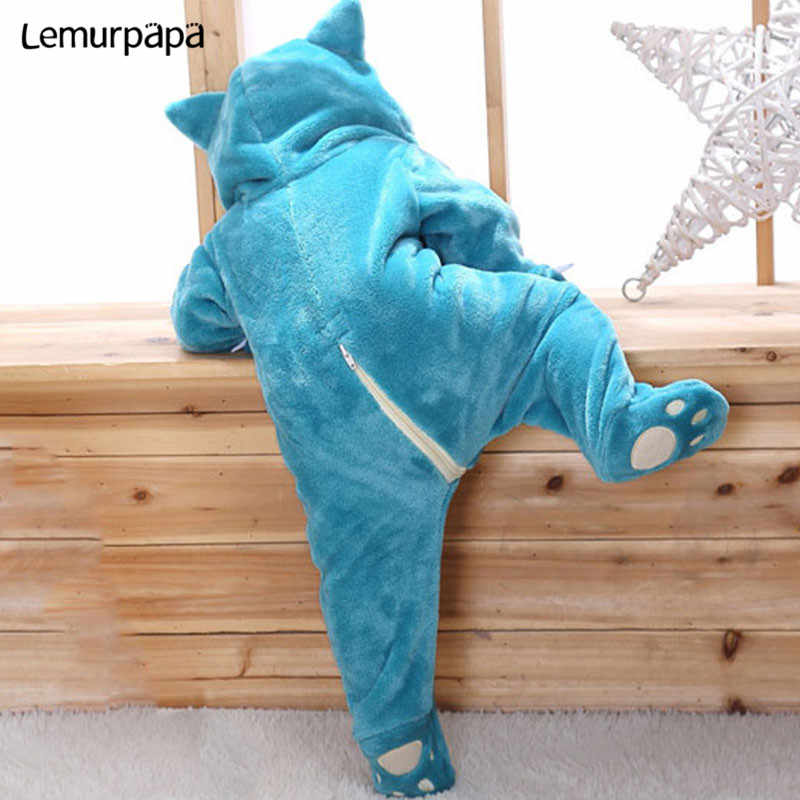 Snorlax Onesie Baby Romper 유아 귀여운 옷 0-2 Y 새로 태어난 소년 소녀 Klgurumis 만화 재미 있은 의상 pyjama Soft Warm Outfit