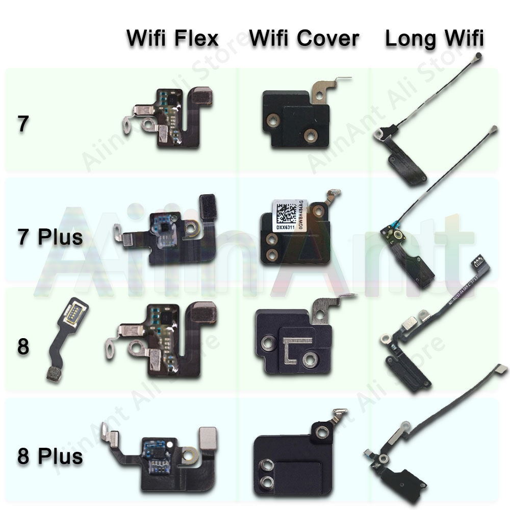 Original For iPhone 7 8 Plus Wifi Bluetooth NFC WI-FI GPS Signal Antenna Flex Cable Cover Replacement Repair Spare Parts image