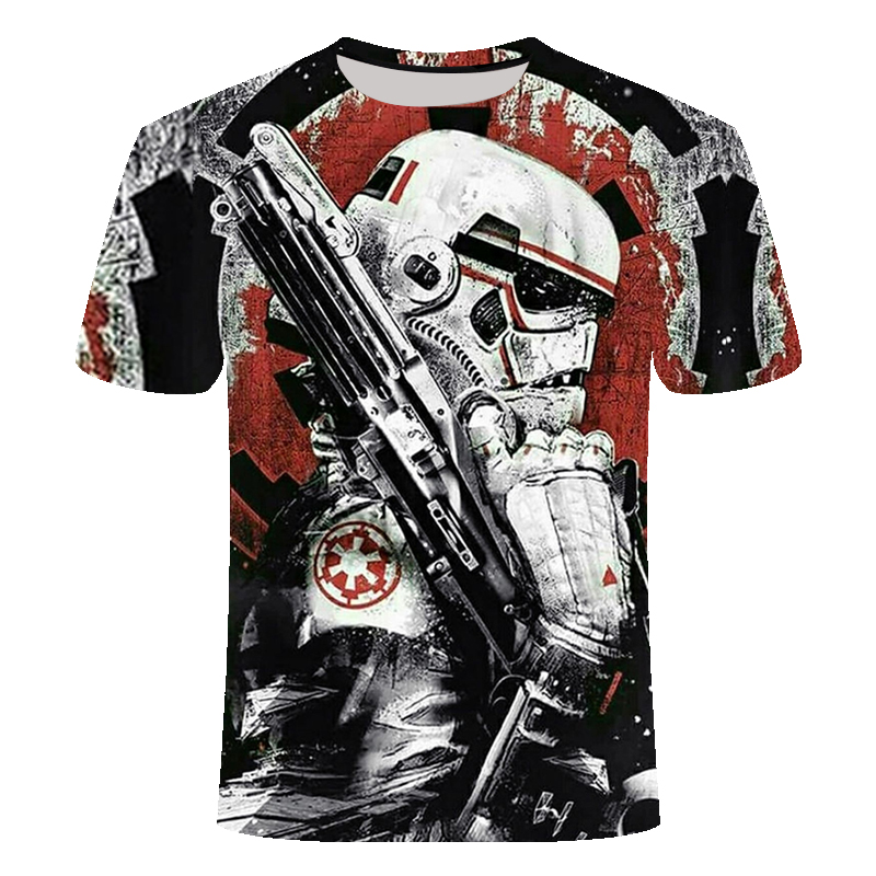 2019 Newest 3D Printed Star Wars T Shirt Men Women Summer Short Sleeve Funny Top Tees Fashion Casual Clothing Dropshiping
