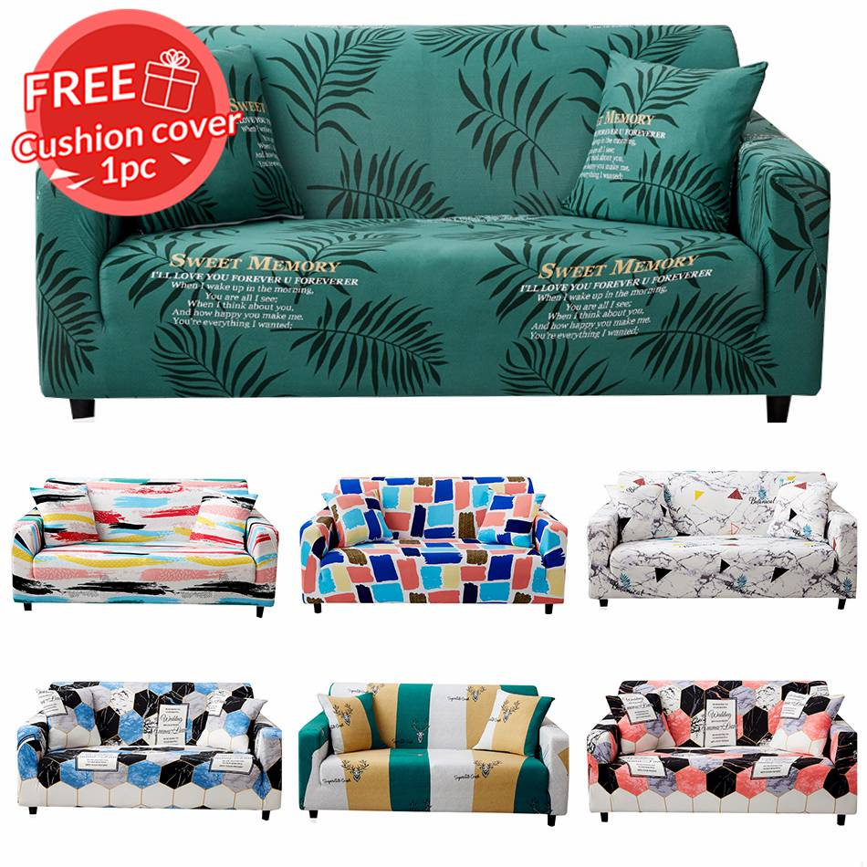 Sofa Cover 1 2 3 4 Seater Blue Pink Green Leaf Animal Point Pattern Sofas Set Multi-sizes Multi-colors Slipcover