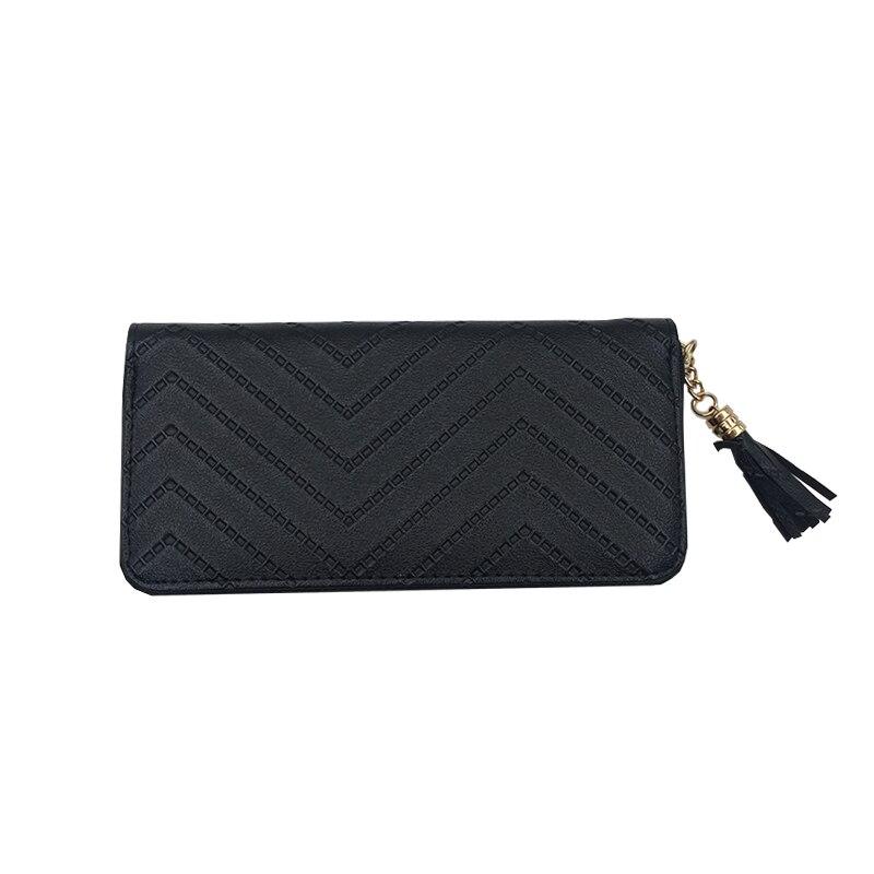 Brand Designer Leather Long Wallet Women Tassel Wallets High Quality Zipper Card Holder Fashion Coin Purse Clutch Money Bag