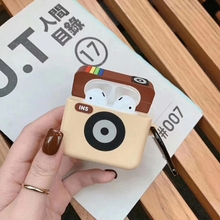 Cute Cartoon Bluetooth Earphone Silicone Case for Apple AirPods Retro Camera Headphone Cover Airpod1 2 3D Protective Cases