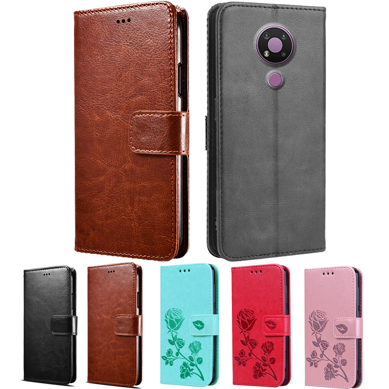 Case For Nokia 3.4 5.3 5.4 6.2 7.2 PU Leather Case Silicone Protective Flip Phone Bag Capa On Nokia 5.4 Protection Wallet Cover