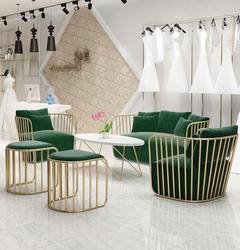Скандинавские ins небольшой диван веб знаменитости простой современный магазин одежды Золотой Железный арт диван один двойной комбинации
