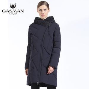 Image 2 - GASMAN 2019 New Winter Collection Fashion Thick Women Winter Bio Down Jackets Hooded Women Parkas Coats Brand Plus Size 6XL 702