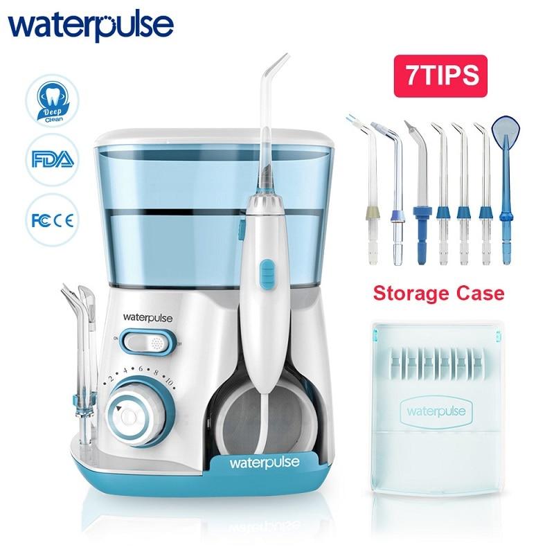 Waterpulse V300 800ml jamy ustnej irygator ustnej 7 sztuk porady irygator do zębów nici wody higieny jamy ustnej nić dentystyczna do czyszczenia wodą w Irygatory do jamy ustnej od AGD na  Grupa 1