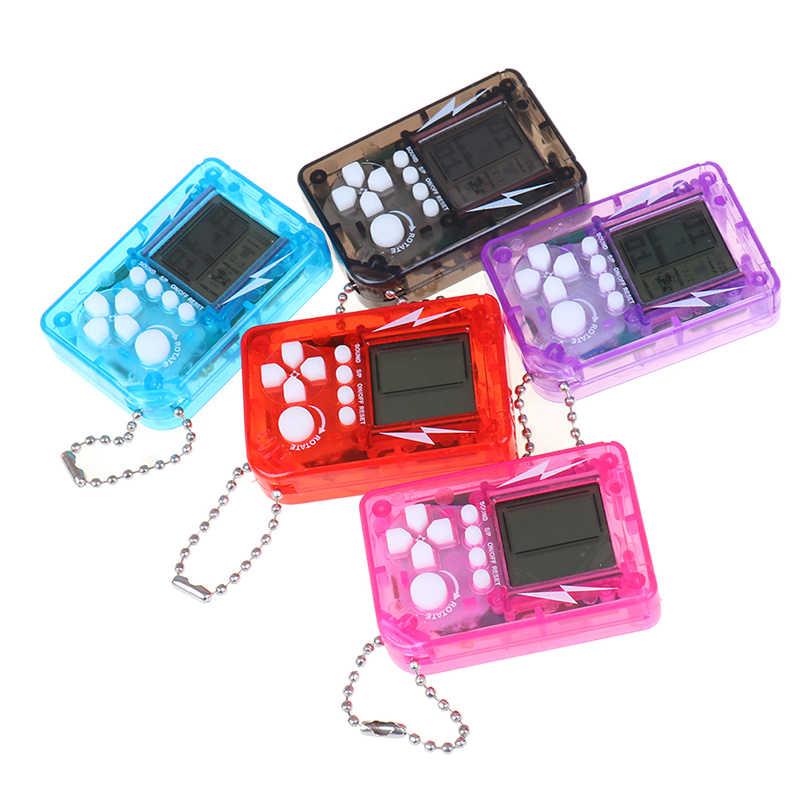 ミニ古典的なゲーム機子供のハンドヘルドレトロなノスタルジックなミニゲームコンソールキーホルダーテトリスビデオゲーム
