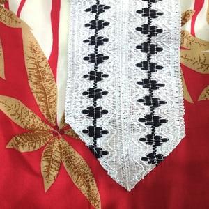 Image 5 - 2019 Fashion New Arrival Wonderful Red 100% Cotton Appliques V Neck Short Sleeve Long Dress African Dashiki Long Dress