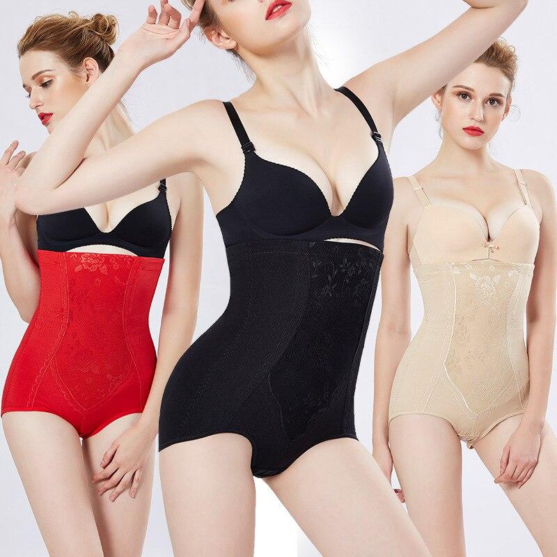 Explosion models spot postpartum high waist belly pants hip shaping body underwear slimming ladies Cotton