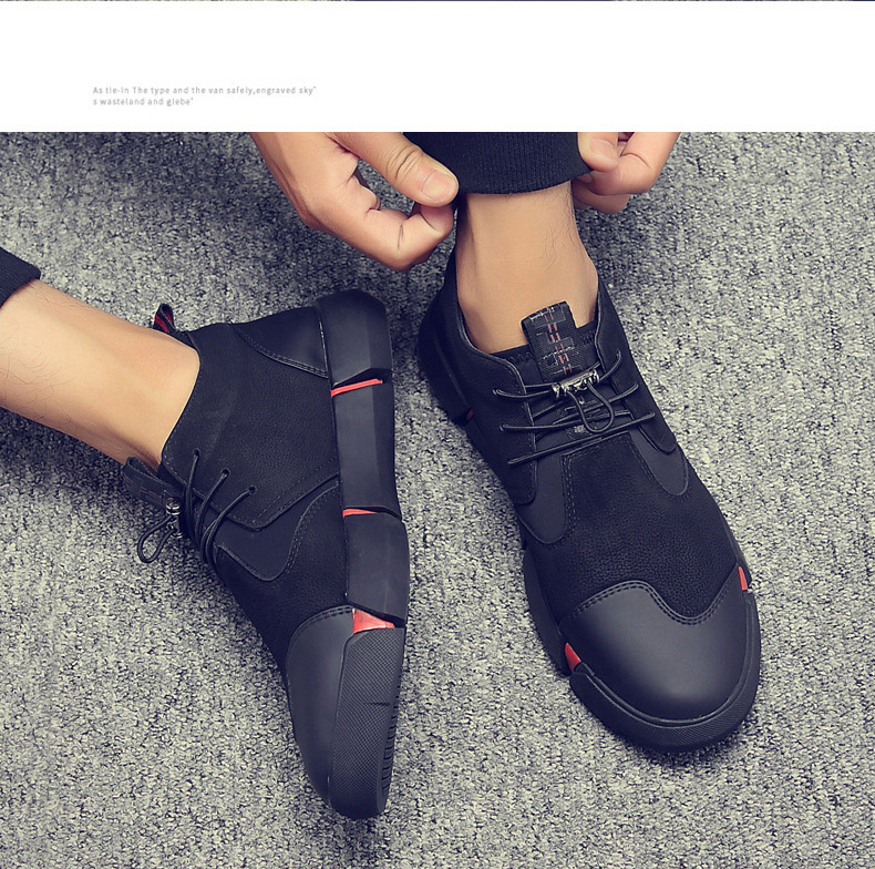 H3a9be8d5f8b146778827586e4ac87edfL Shoes Men Black Autumn Winter Plush Keep Warm Men Casual Shoes Leather Breathable Fashion Men Shoes High Quality