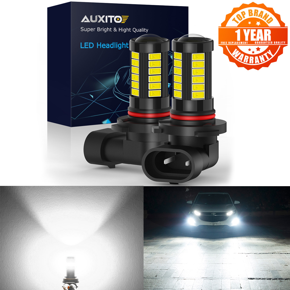 AUXITO 2x HB3 9005 H8 H11 H9 LED Fog Lights Bulb for Seat Leon MK3 MK2 FR 1M Exeo Ibiza 6J 1P Toledo Cordoba Altea Car DRL Lamp