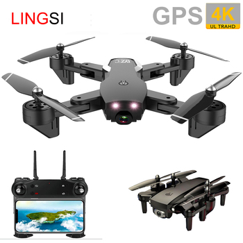 GPS FOLLOW ME WIFI FPV Optical Flow Posit  Quadcopter With 4K/1080P HD Wide Angle Camera Foldable Altitude Hold Durable RC Drone