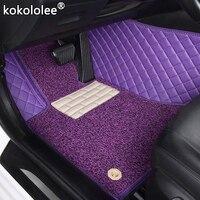 kokololee Custom car floor mats for MG All Models GT MG5 MG6 MG7 mg3 SW mgtf TF ZR ZT ZT T car accessories car styling carpet