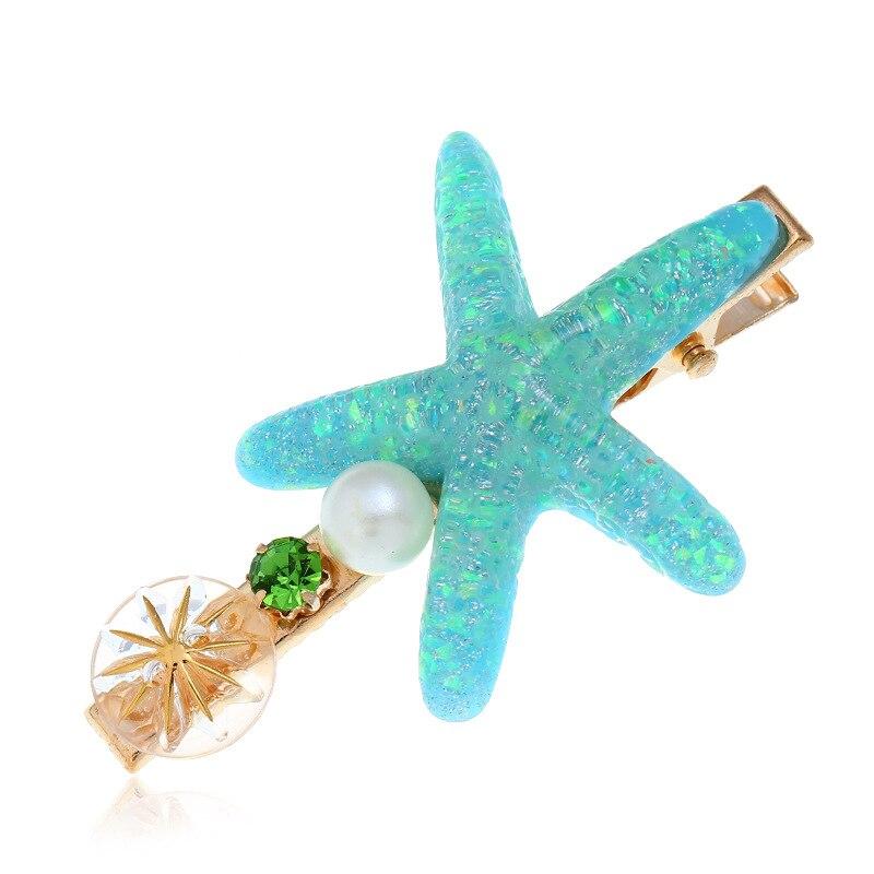 Estrela do Mar Grampos de Cabelo Estilo do Cabelo Lote Faça Você Mesmo Simples Multi Liga Conchas Pérola Broca Hairpin Ferramentas Acessórios Ha1400 120 Pçs –