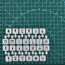 Eastshape 26 Candle Lowercase Alphabet Metal Dies Letters Cutting Scrapbooking Embossing Cut Stencils DIY Cards