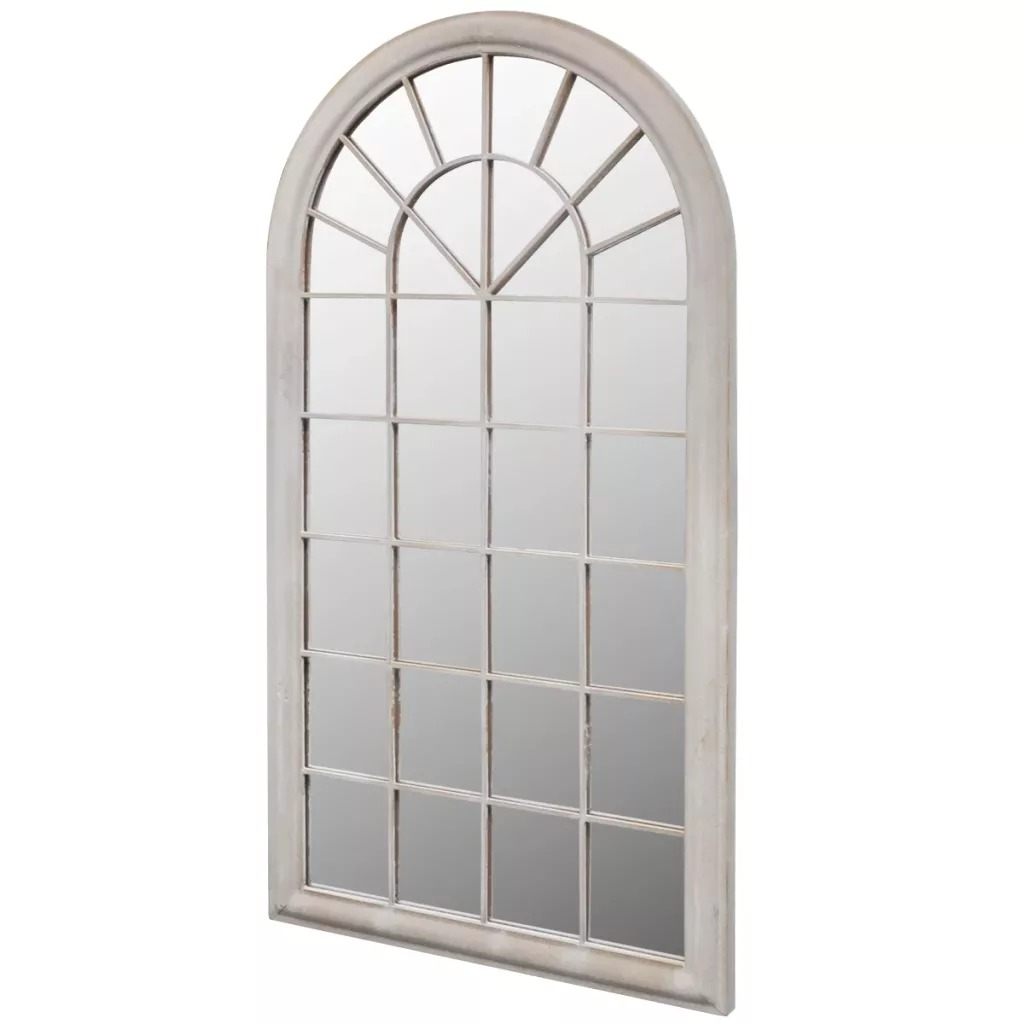 VidaXL Rustic Arch Garden Mirror 116x60cm For Both Indoor And Outdoor Use Iron And Glass Material Durable Garden Mirror Gate V3