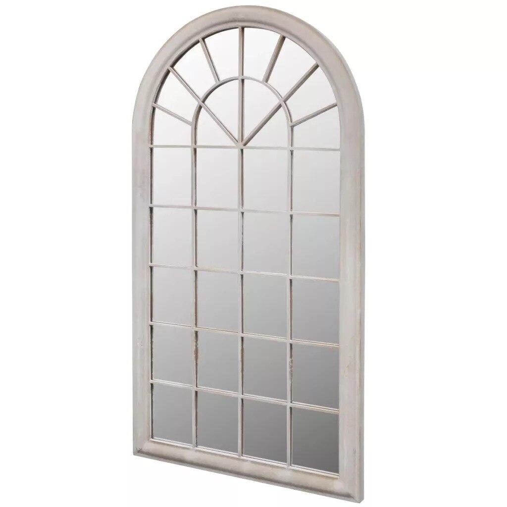 VidaXL Rustico Arco Giardino Specchio 116x60cm Per Uso Sia Interno che Esterno di Ferro E Materiale di Vetro Resistente giardino Specchio Cancello V3