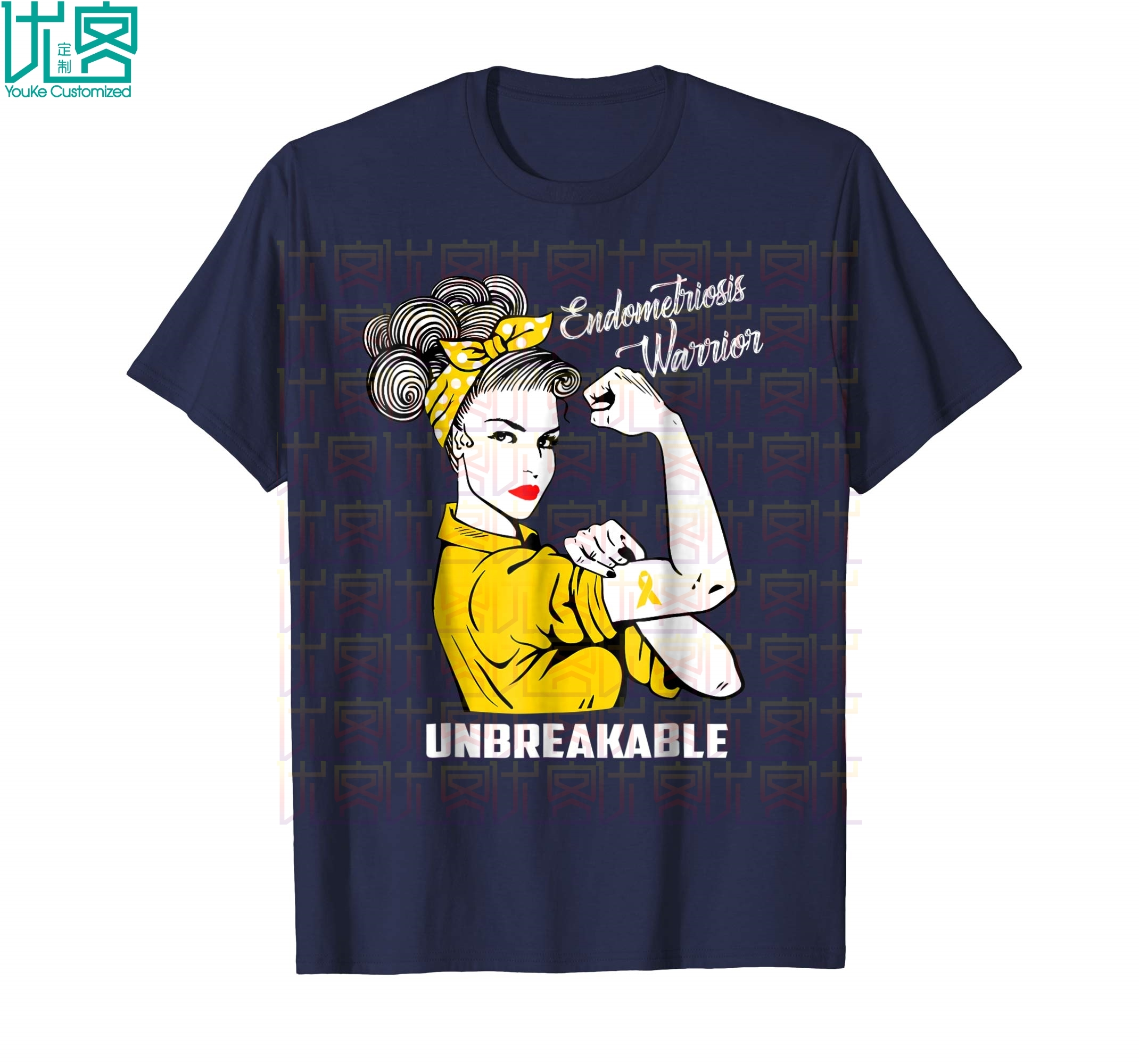 Endometriosis Warrior Unbreakable T Shirt Awareness Gift Amazing Short Sleeve Unique Casual Tees 100% Cotton Clothes T Shirt