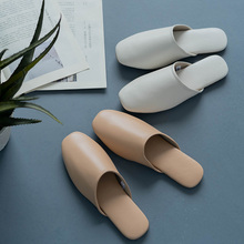 Youdiao Genuine leather Slippers Women Indoor Mules sheepskin Shoes Suede Sole TPR Soft Home Female office Non-slip Flat Slides