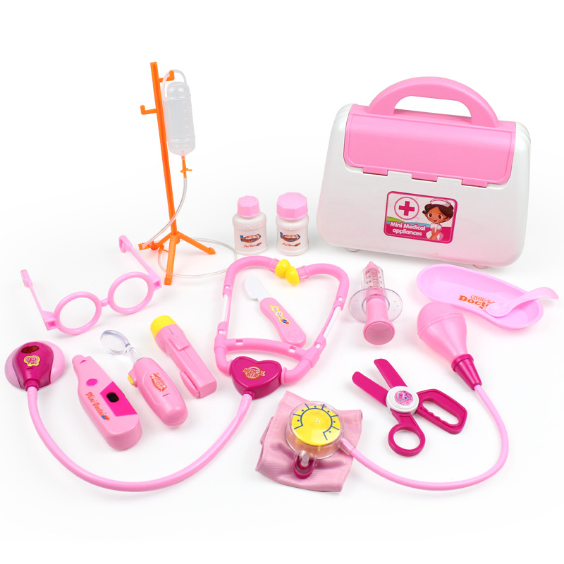 Kids Doctor Toys Set Simulation Family Doctor Medical Kit Toy Pretend Play Portable Suitcase Medicine Accessorie Children Toys