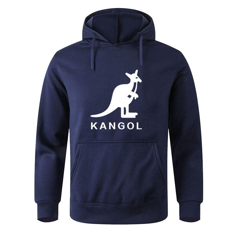 Men Hoodie KANGOL Brand Hoodie Autumn Hip Hop Streetwear Men Pullover Sweatshirts Hoodies Mens Print Hoodie Male