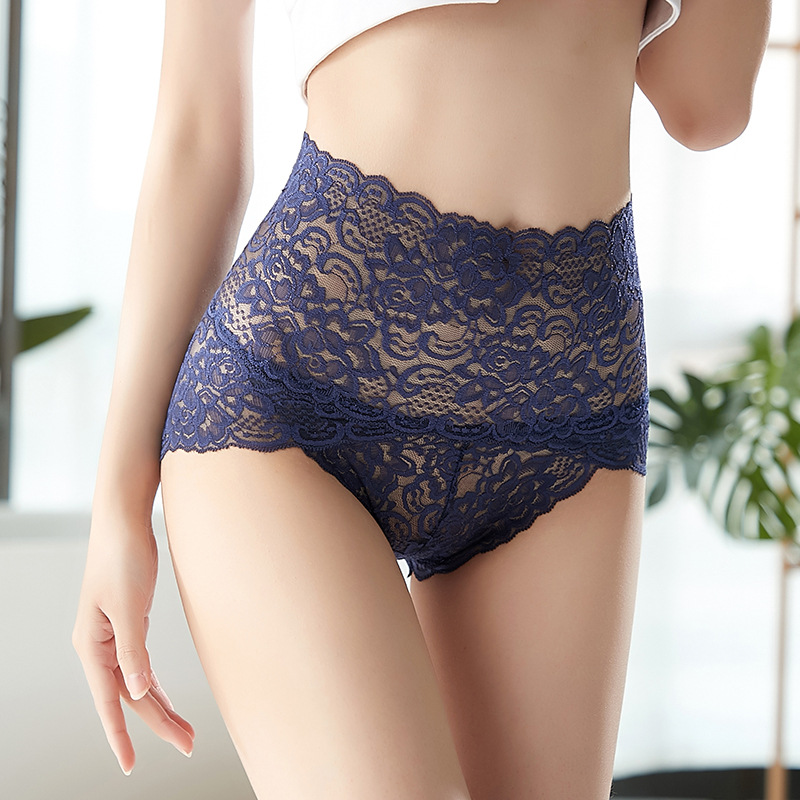 Mutandine di pizzo mutandine da donna vita alta Plus Size intimo sexy femminile Butt Lift Lingerie slip senza cuciture mutande breech 1