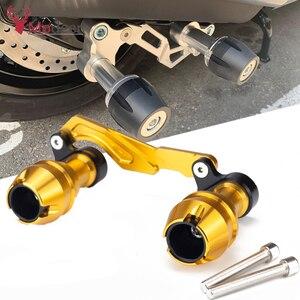 Image 1 - Modificado xmax traseiro protetor slider acidente guarda eixo traseiro silenciador tubo quadro caindo sliders para yamaha x max 300 400 125 250