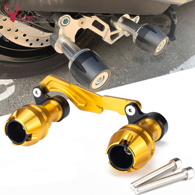 Modificado xmax traseiro protetor slider acidente guarda eixo traseiro silenciador tubo quadro caindo sliders para yamaha x max 300 400 125 250