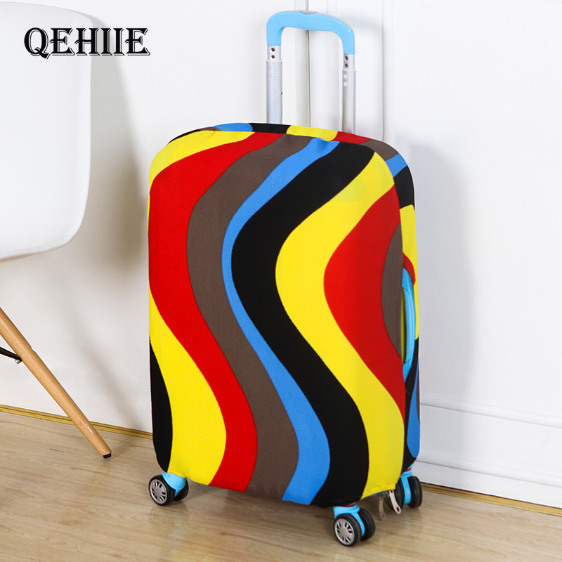 Fashion Suitcase Cover High Elastic Stripe Love Heart Shaped Luggage Case Dust Cover For18-32Inch Suitcase Essential Accessories