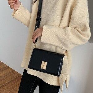 Image 4 - BXX sacs en cuir PU en couleur unie, sacoche femme à bandoulière dautomne 2020, sacs à main de voyage, pochettes HI822