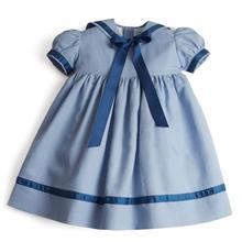 2021 эксклюзивная одежда для малышей, летние темно-синие хлопковые платья для девочек, туника на 1-й день рождения для младенцев, винтажный ком...