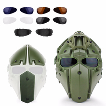 Tactical Military CS Game Helmet Airsoft Hunting Paintball Helmet Full Cover Tactics Helmet with Face Mask