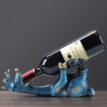 European Resin Drunk Deer Wine Rack Modern Wine Holder Crafts Livingroom Office Wine Bottle shelf Home Furnishing Decoration