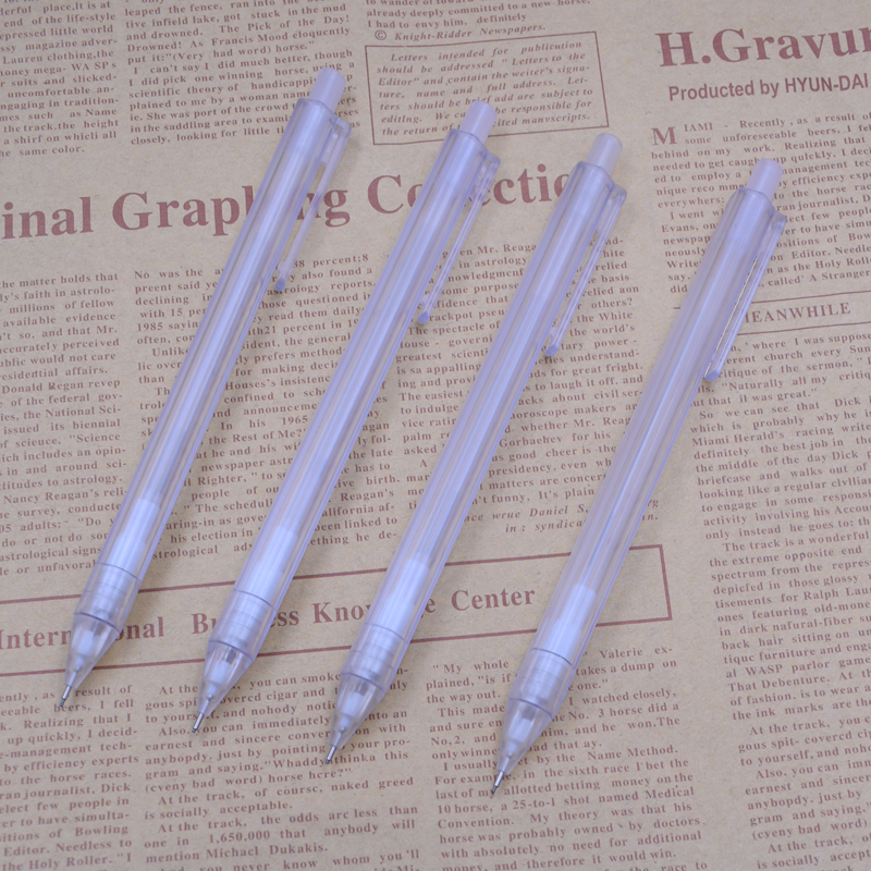 Transparent Automatic Pencils Adorable Kawaii Plastic Mechanical Pencil For Kids Gifts Material Supplies