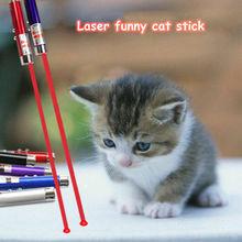 Laserowe śmieszny kijek dla kota 2 w 1 czerwony wskaźnik laserowy długopis z białe światło led zabaw dla dzieci zabawka dla kota produkt dla zwierząt interaktywna zabawka dla kota tanie tanio Laser zabawki Metal About 7cm 1 cm (head) Aviation aluminum alloy 650NM 3 AG13 button battery