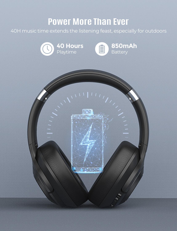 Mpow H21Hybrid Attiva Del Rumore Che Annulla Cuffia Senza Fili di Bluetooth 5.0 Cuffie di Musica 40 H Tempo di Gioco Cvc 6.0 per Il Iphone 11 Xiaomi - 3